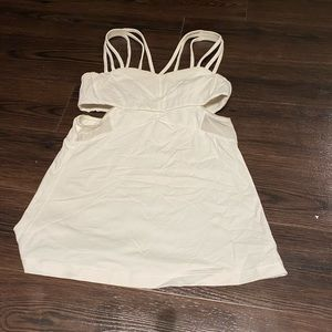 Lululemon work our top with cut out sides